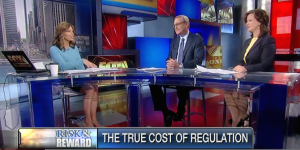 "Ed Conard and Fox News's Liz MacDonald discuss whether the cost of  federal regulation will carry a $1.88 trillion price tag for taxpayers on Fox Business News's ""Risk and Reward with Deirdre Bolton""."