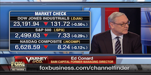 """Ed Conard discusses the stock market and the state of the economy with Stuart Varney on n Fox Business Network's """"Varney & Co""""."""
