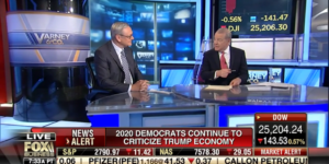 America's strong economy, driven by President Trump's pro-growth policies of tax cuts and regulatory restraint, puts him in the best position to win in 2020, on Fox Business's Varney & Co.